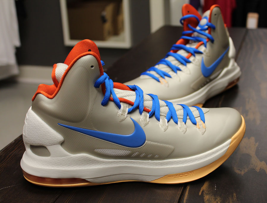 732eaaf665f ... Blue-Team Orange. Next to release as part of the KD V signature  collection by Nike Basketball is this all silver-based colorway for the  spring.