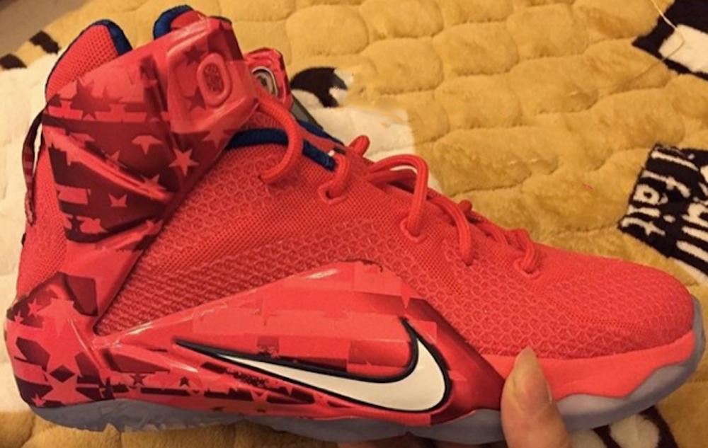 Nike LeBron 12 University Red/White-Gym Red-Obsidian