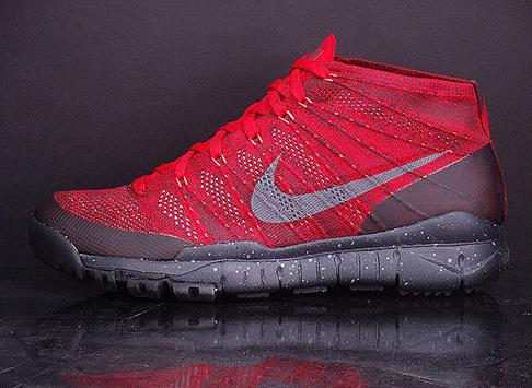 Nike Flyknit Trainer Chukka FSB Gym Red/Deep Burgundy-Hyper Crimson  625009-601
