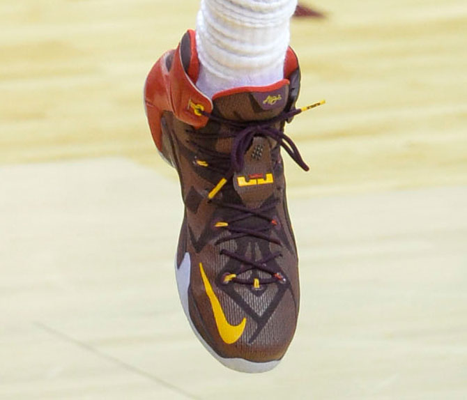 low priced 30bc8 e6cc0 LeBron James wearing the  Double Helix  Nike LeBron XII 12 PE (5)