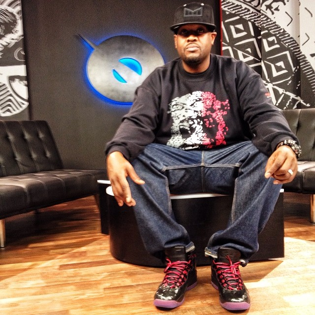DJ Clark Kent wearing Air Jordan 10 Doernbecher