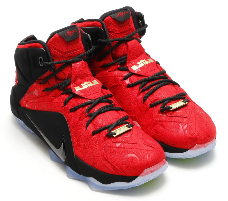 buy online 470be 7008c Release Date  Nike LeBron 12 EXT  Red Paisley