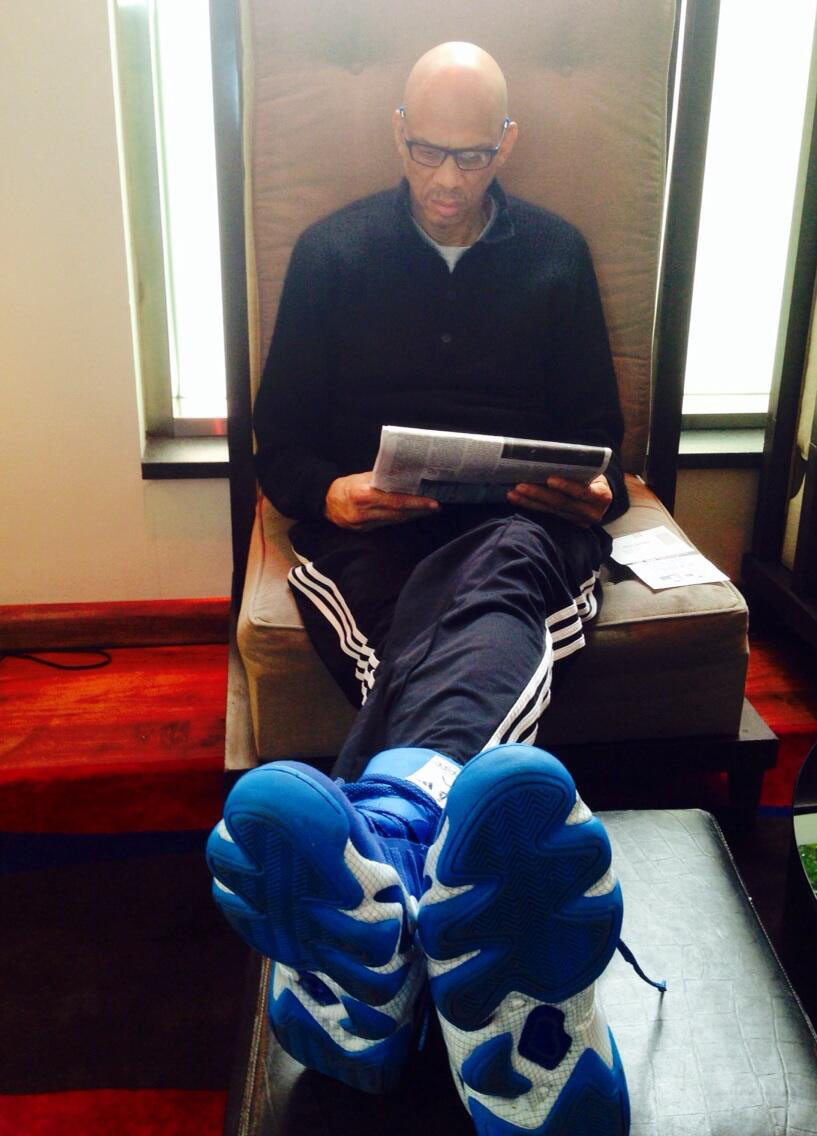 Kareem Abdul-Jabbar wearing adidas Crazy 8 The Blueprint
