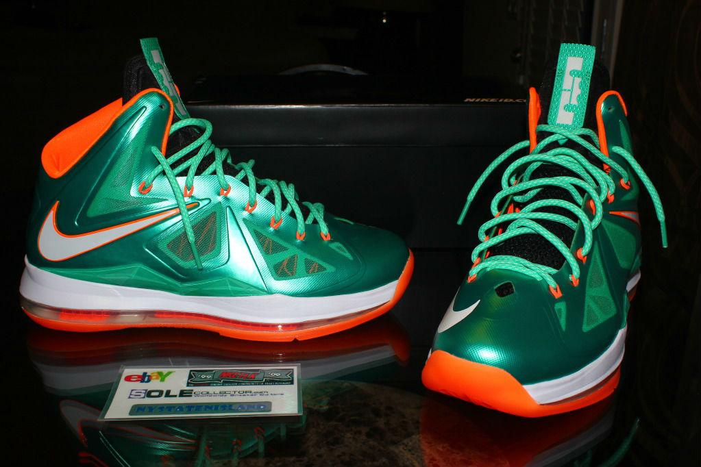 new concept 0b2f5 03bf5 Nike Lebron X iD Miami Dolphins by nystatenisland (1)