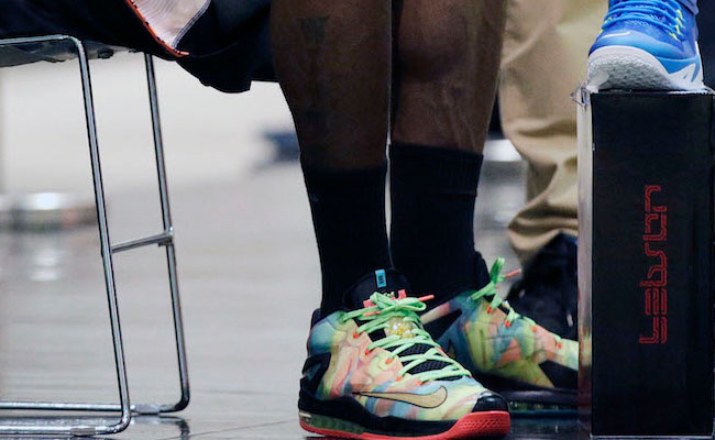LeBron James Wears Nike LeBron XI 11 Low Championship Pack (2)