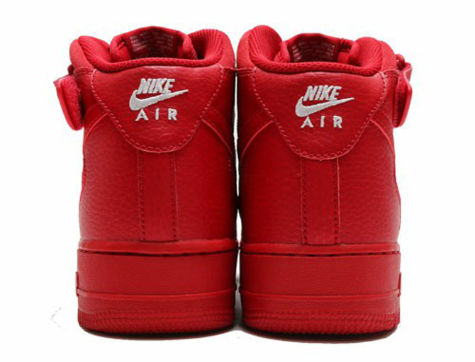 Nike Air Force 1 Mid All Red Heel