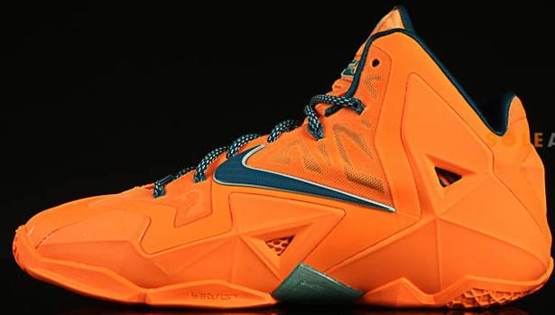 Nike LeBron 11 Atomic Orange/Green Abyss-Glacier Ice