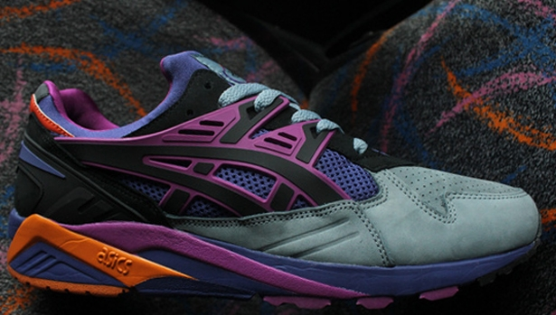 Asics Gel Kayano Trainer Grey/Purple-Magenta-Black-Orange