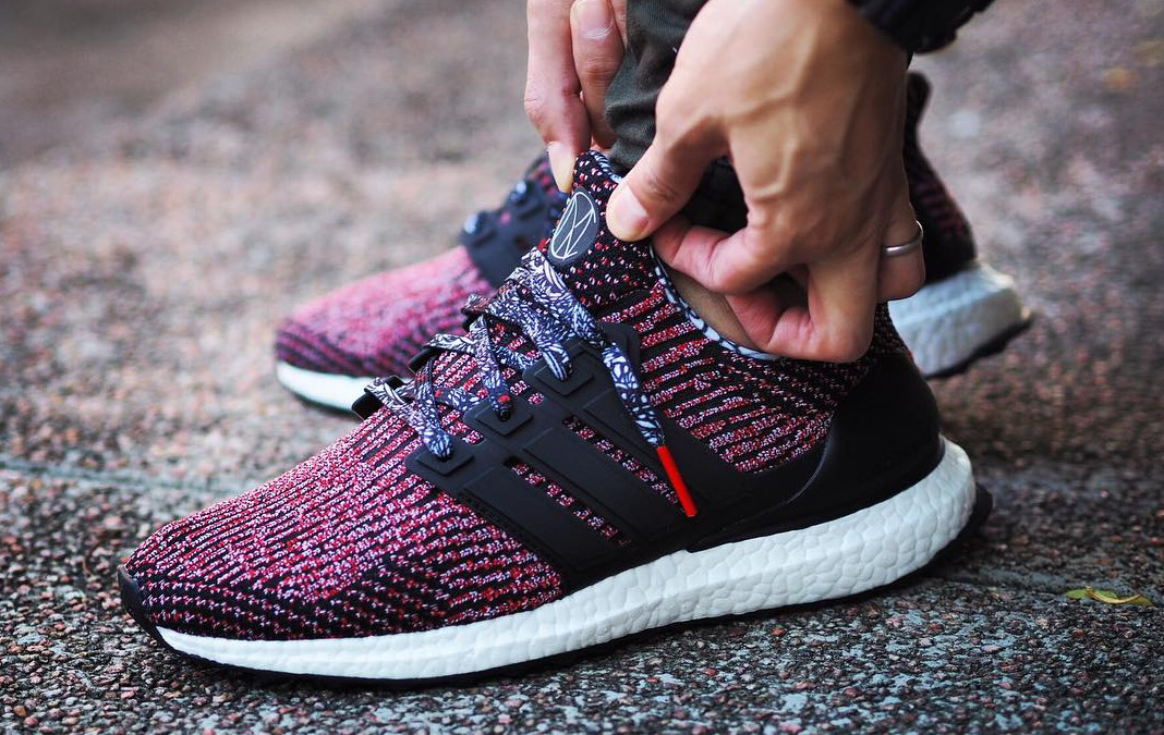 BB3522 Adidas Boost Chinese New Year On Feet