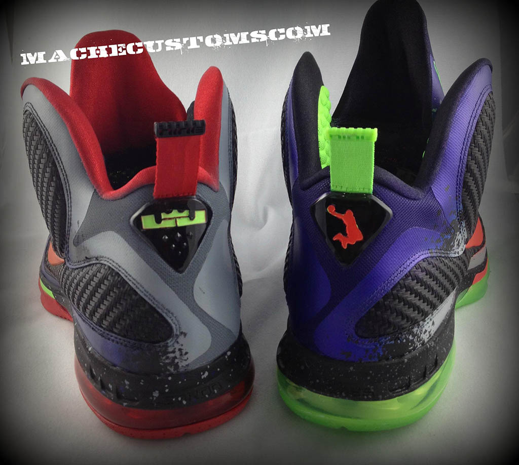 buy online 3f5c5 d9f51 Nike LeBron 9 Un NERF by Mache Custom Kicks (7)