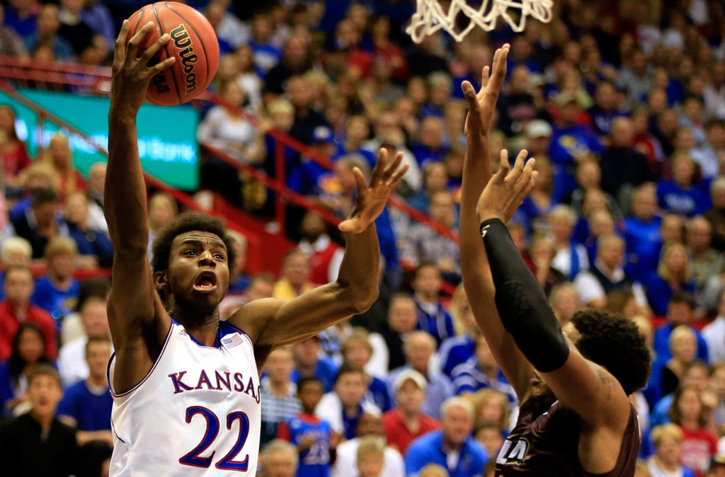 Andrew Wiggins Makes Kansas Debut in adidas Rose 773 2
