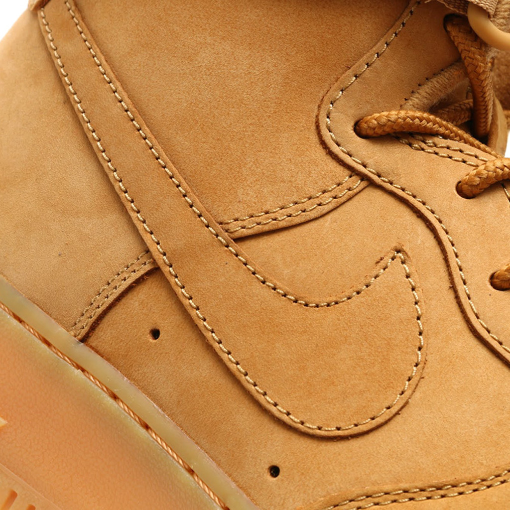new product 2d49b 8ce2c Here s an On-Feet Look at the  Wheat  Nike Air Force 1   Sole Collector