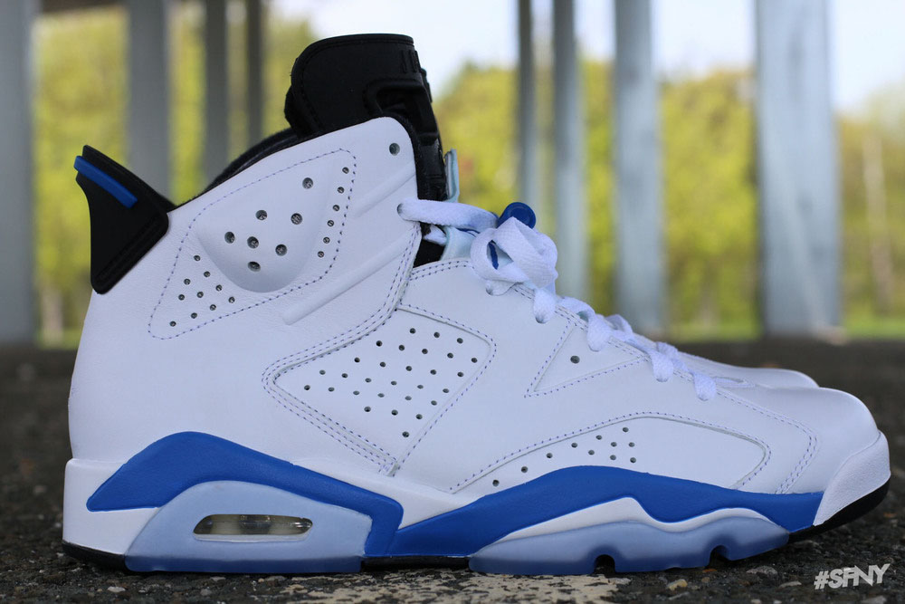 promo code af9ef eada4 Air Jordan 6 'Sport Blue' From All Angles | Sole Collector