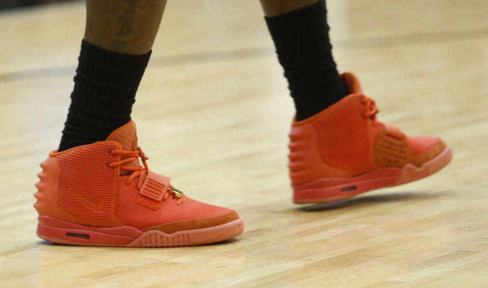 LeBron James wearing Nike Air Yeezy II 2 Red October (7)