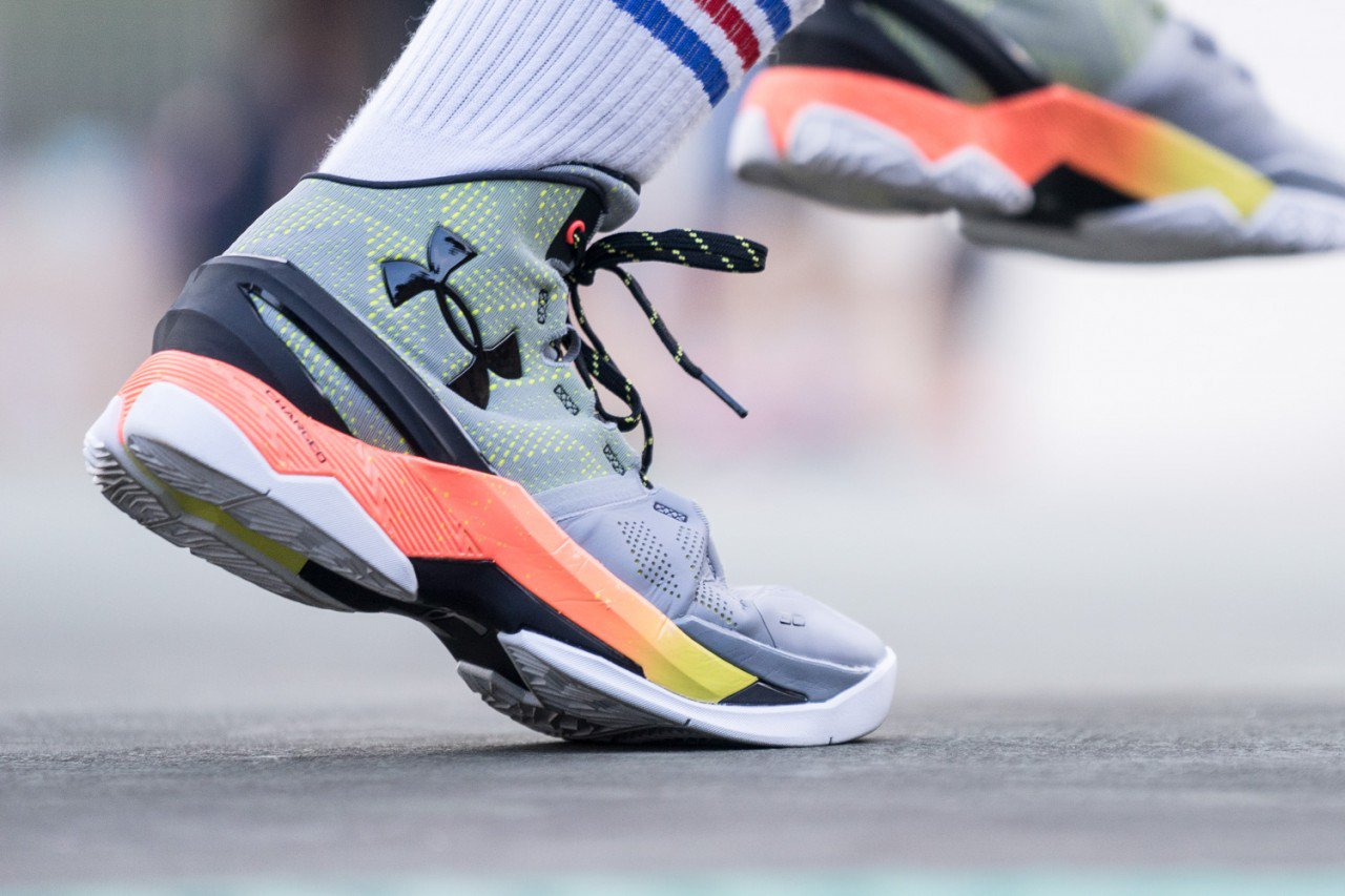 new concept cca7b 5f783 Here's What the Under Armour Curry 2 Looks Like On-Feet ...