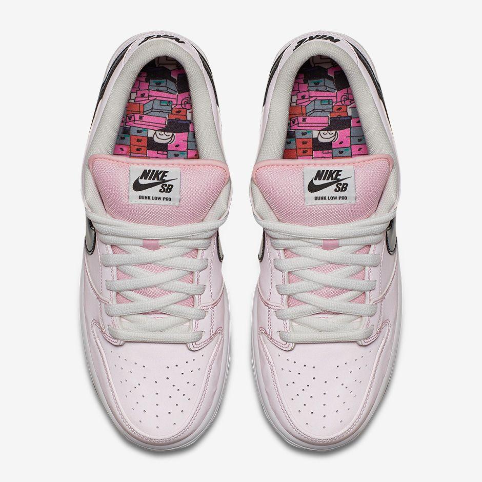 cbdd6c99f831 Image via Nike Pink Box Nike SB Dunk 833474-601 Top