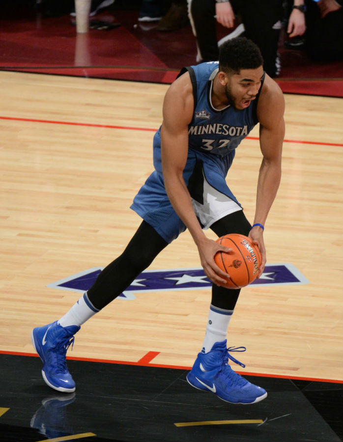 Karl-Anthony Towns Wearing the Nike Hyperfuse 2014