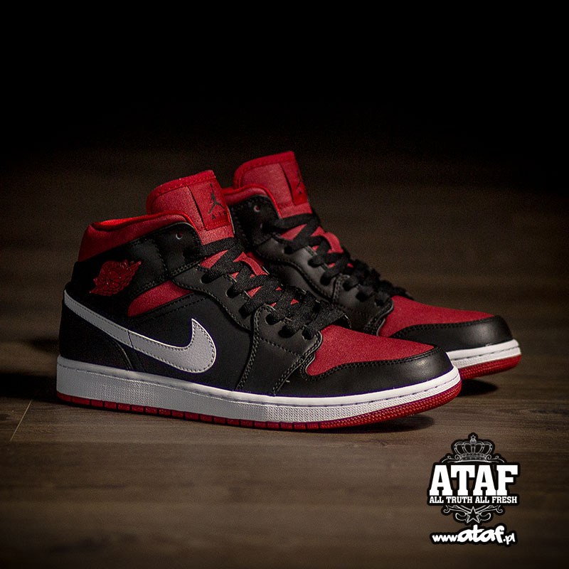 8185e4fcadc3e Air Jordan I 1 Mid Black Gym Red 554724-020 (4)