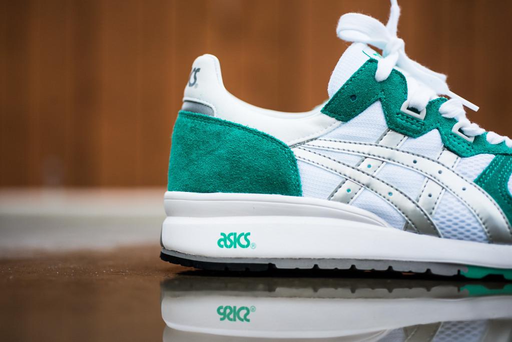 green and white asics