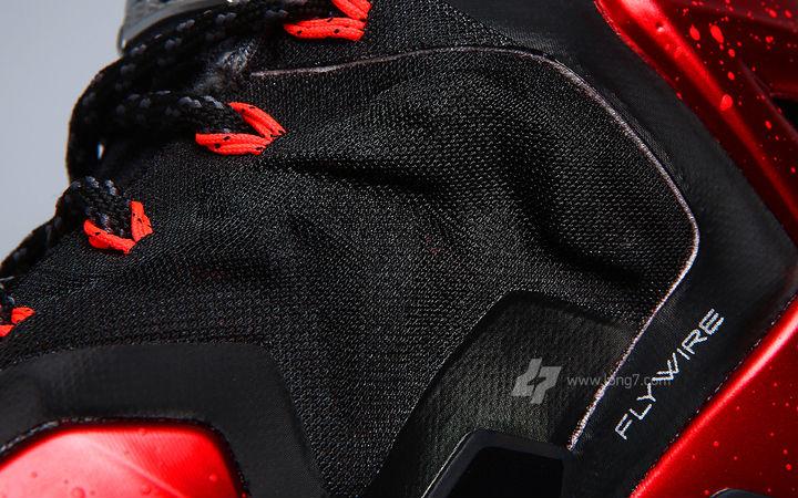 Nike LeBron XI Black Red Miami Heat Release Date 616175-001 (12) 7e4c413ba