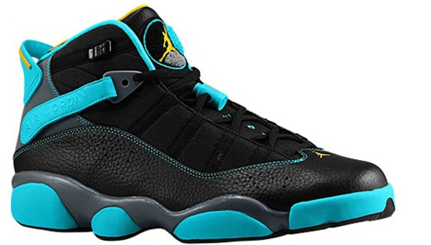 Jordan 6 Rings Black/Varsity Maize-Cool Grey-Gamma Blue