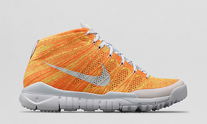 check out 2df0b 70d50 ... spain nike flyknit trainer chukka fsb color total orange volt neutral grey  light base grey style