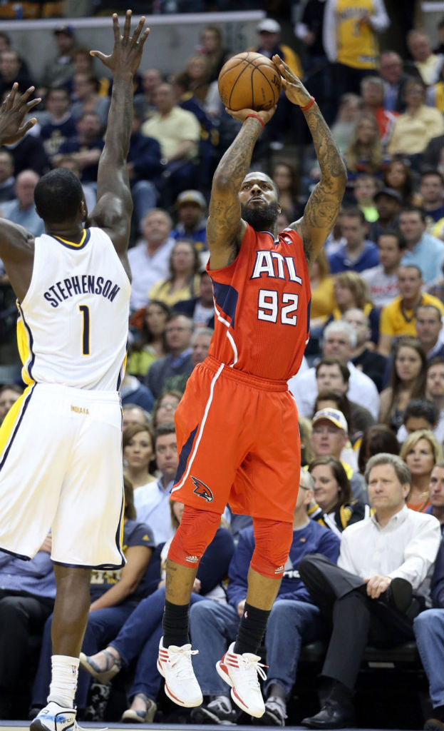 Deshawn Stevenson wearing adidas adizero Crazy Light Low