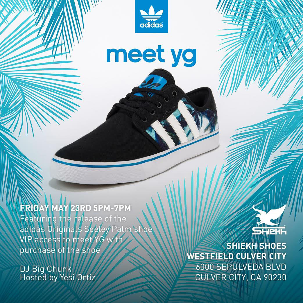 bc1a30a5bd3d Meet YG at Shiekh Shoes This Saturday for adidas  Palm Seeley Launch ...