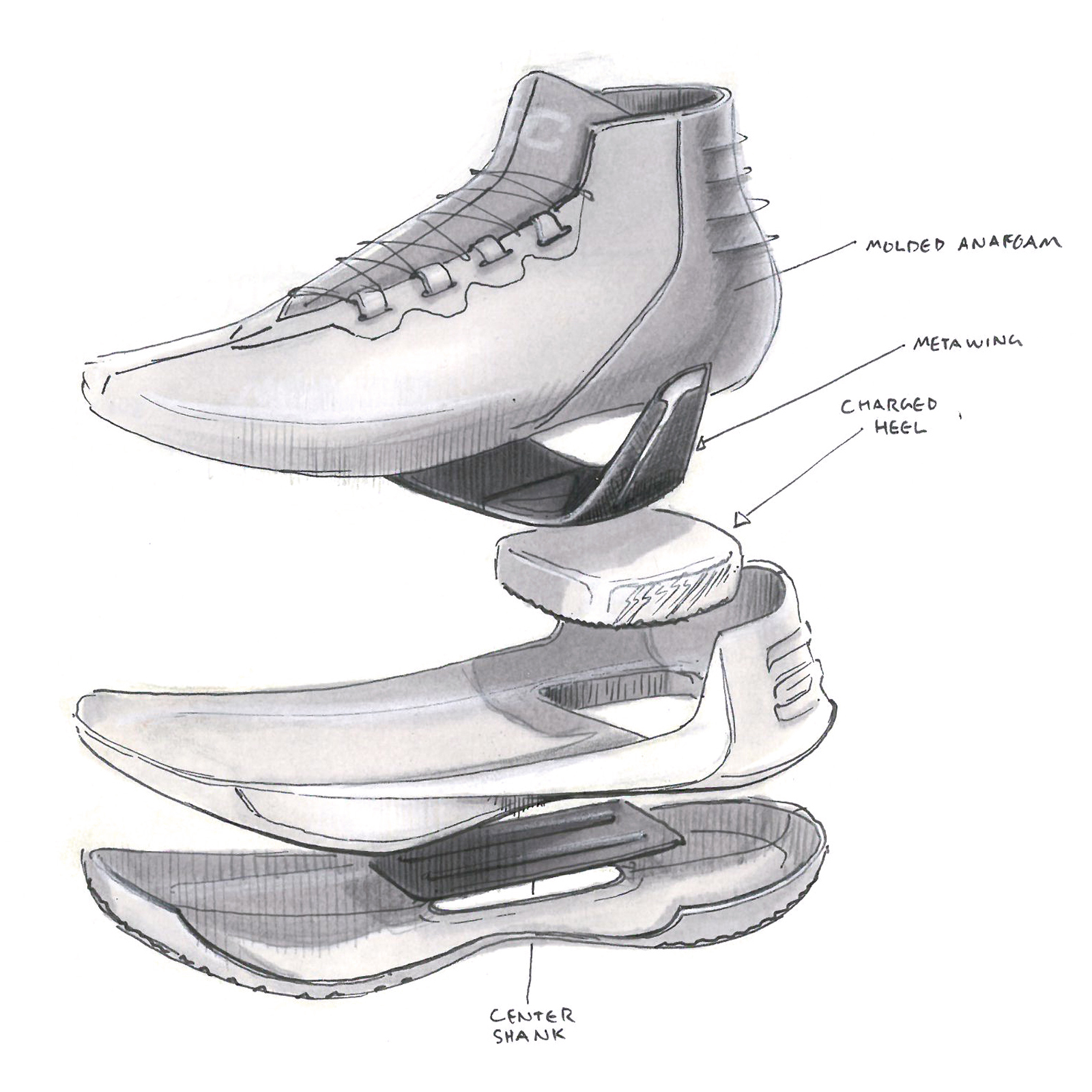 Drawings Of Nike Basketball Shoes