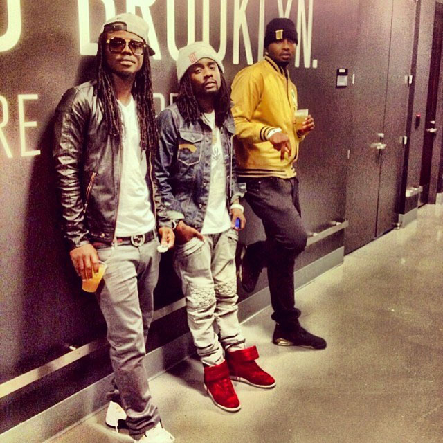 Wale wearing Maison Martin Margiela High-Top Sneakers