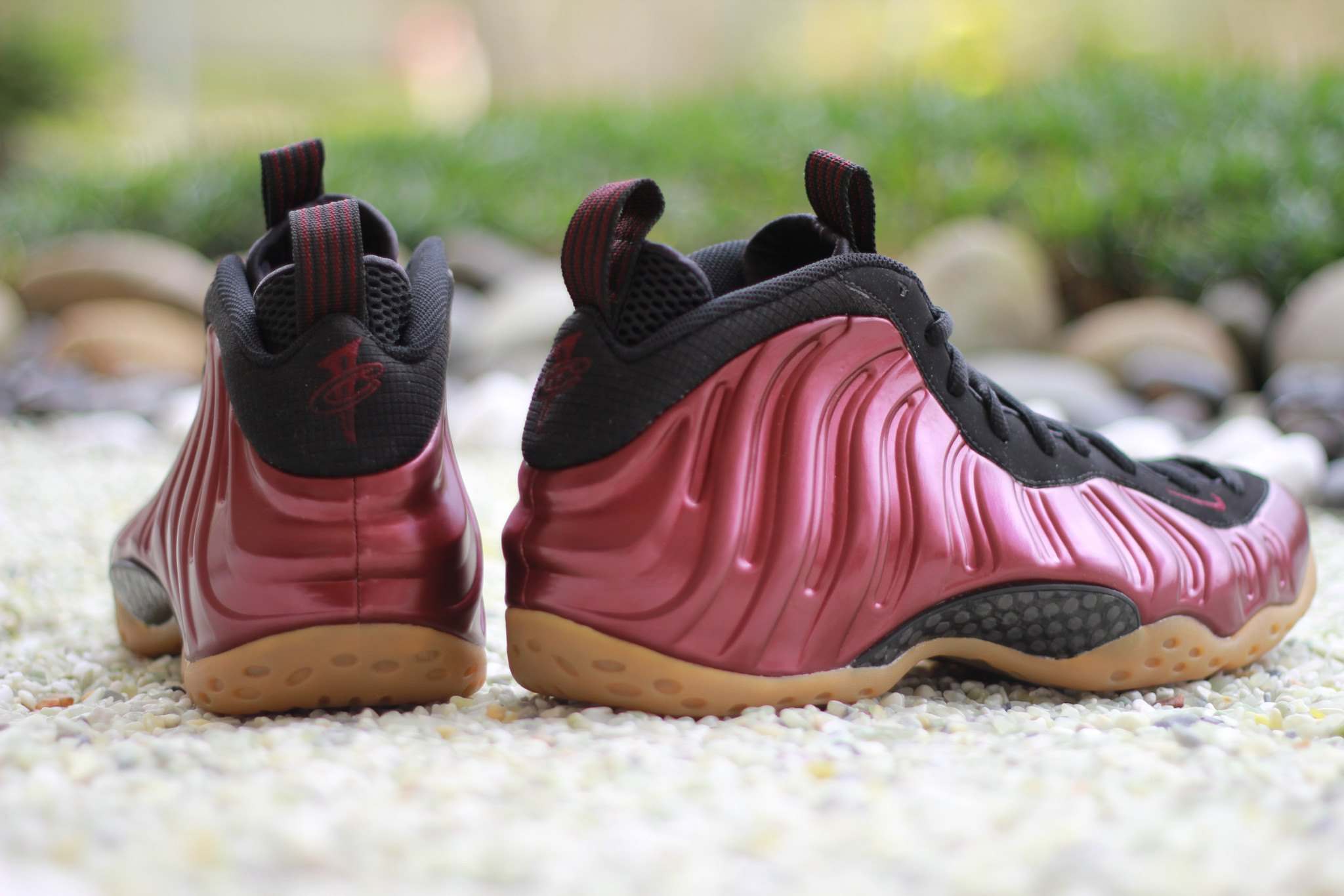 Maroon Nike Air Foamposite One Heel 314996-601
