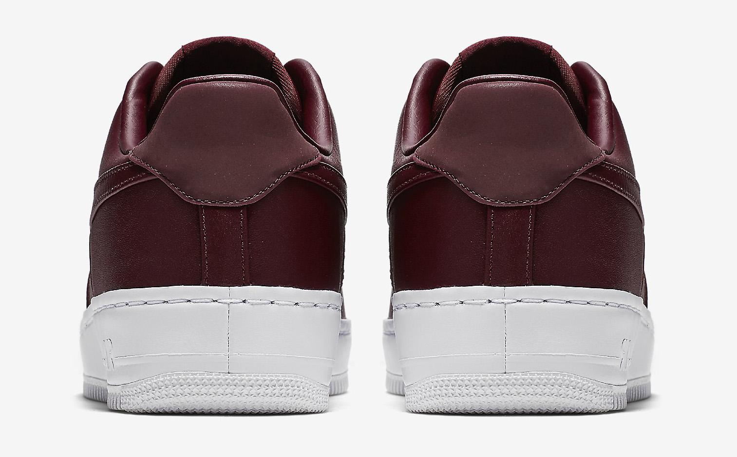 NikeLab Air Force 1 Low Maroon Heel