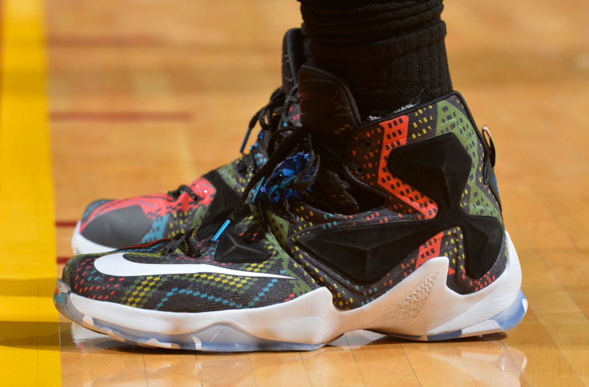 LeBron James Wearing the 'BHM' Nike LeBron 13 (3)