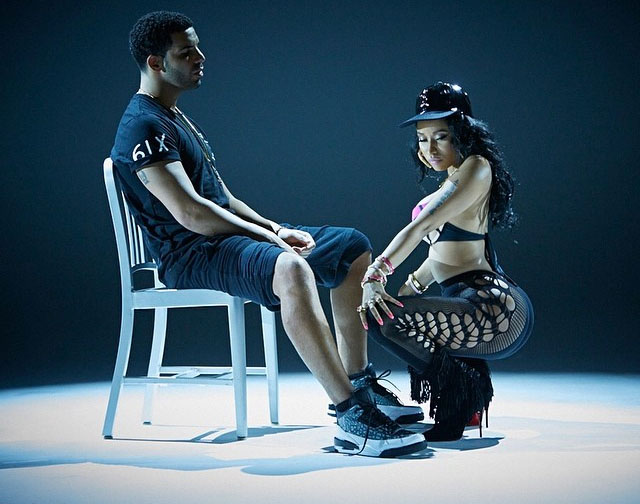 Drake wearing Air Jordan III 3 Unreleased in the Anaconda Video (2)