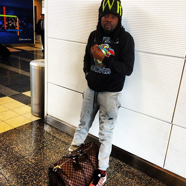 Wale wearing Nike Flyknit Trainer Multicolor