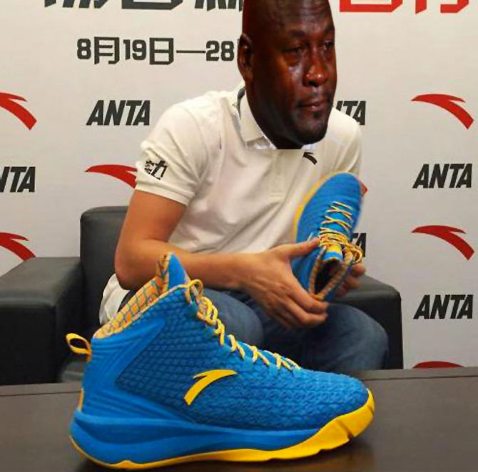 Best Michael Jordan Crying Sneaker Memes: Klay Thompson ANTA