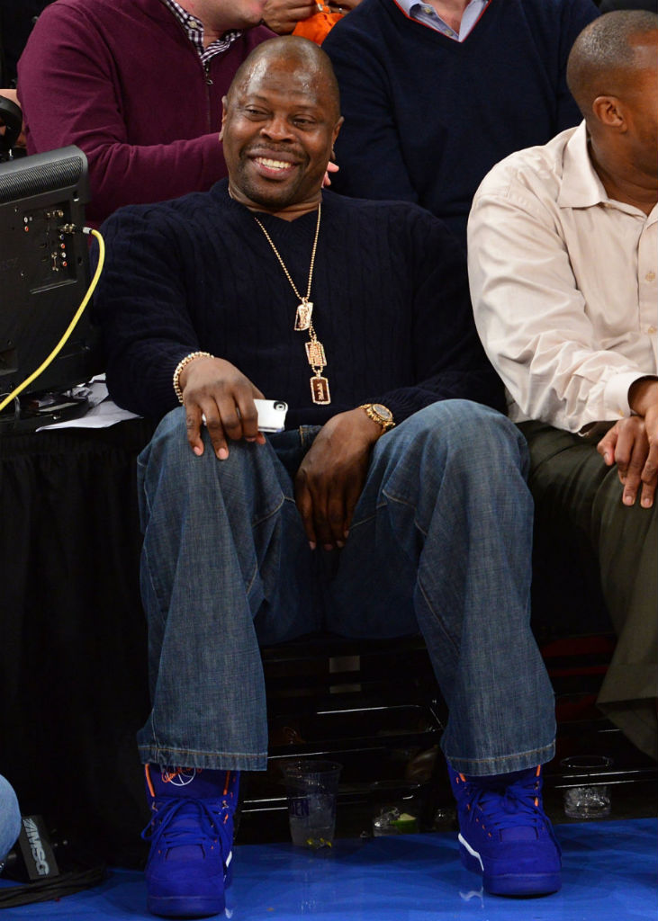 Patrick Ewing wearing Ewing Athletics 33 Hi Knicks Blue (1)