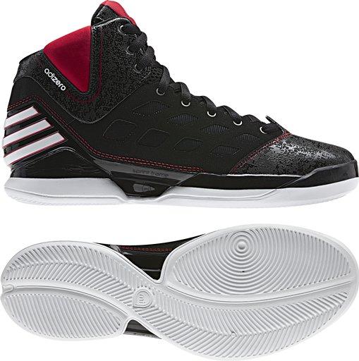 new concept f60c8 e3ee8 adidas adiZero Rose Dominate Black White Red