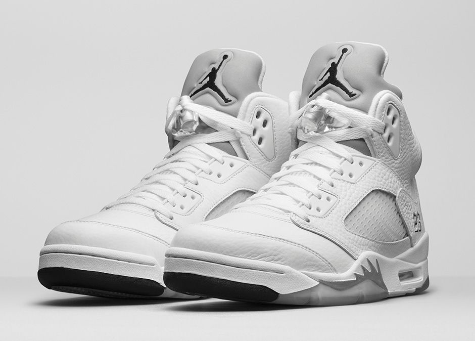 new style 27ab4 af82e Air Jordan V 5 White Metallic 136027-130 (1)