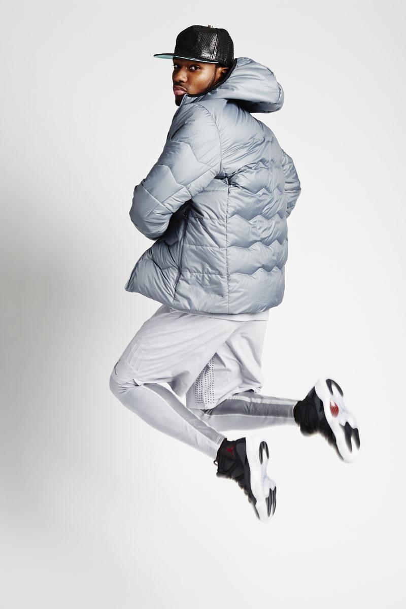 2894b475d9ad9 Jordan Holiday 2015 Lookbook Photoshoot Styled by Megan Ann Wilson (18). Air  Jordan Flight Hyperply jacket  Air Jordan Stay Warm Fitted Shield ...