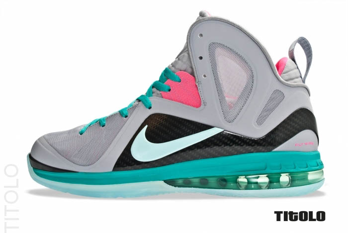 Nike LeBron 9 P.S. Elite South Beach Wolf Grey Mint Candy New Green Pink Flash 516958-001 (1)