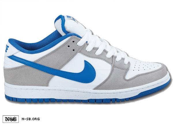 Nike SB Dunk Low - White/Grey-Varsity