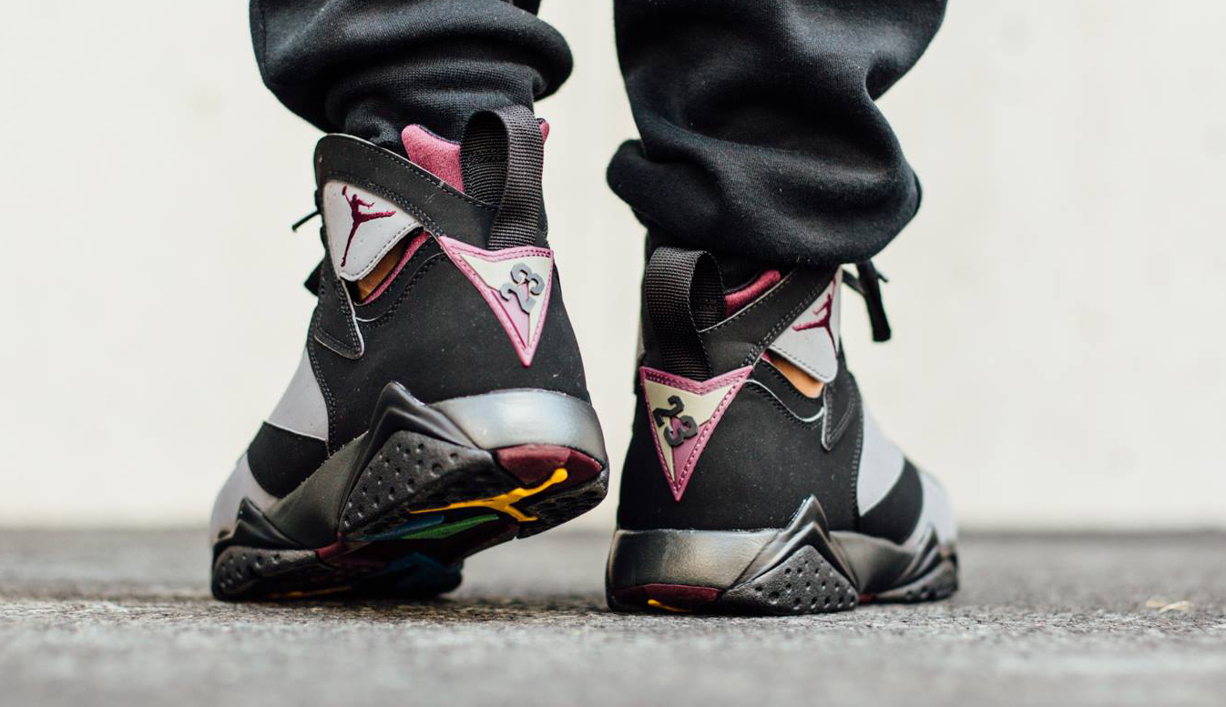 sale retailer 64096 2b056 See How  Bordeaux  Air Jordan 7s Look On-Feet Before Tomorrow s Release