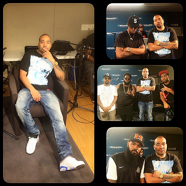 DJ Envy wearing Air Jordan VI 6 Sport Blue