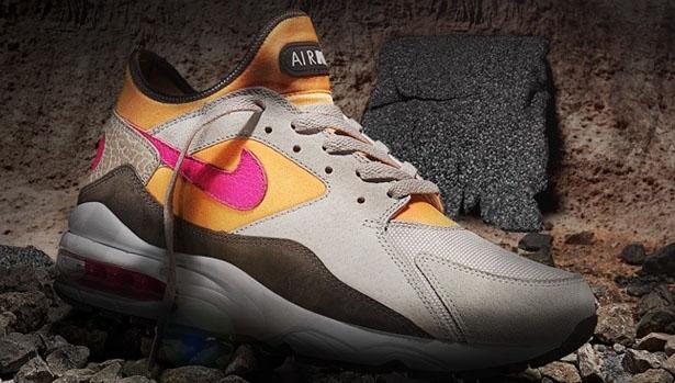 size? x Nike Air Max '93 Maximum Air Mortar/Pink-Laser Orange
