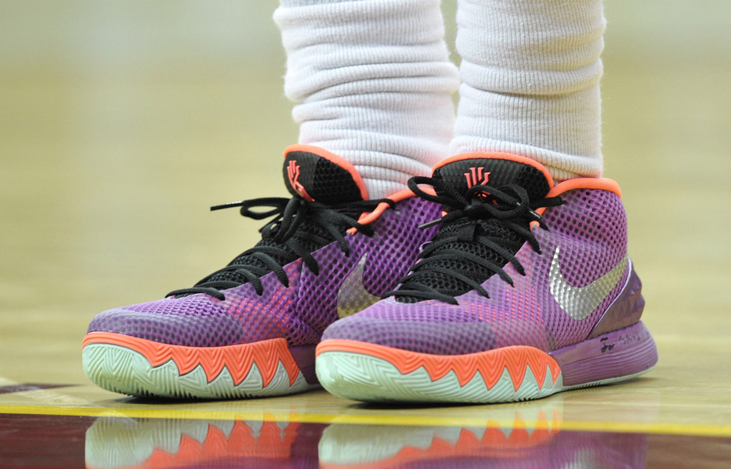 Kyrie Irving wearing the 'Easter' Nike Kyrie 1 (1)