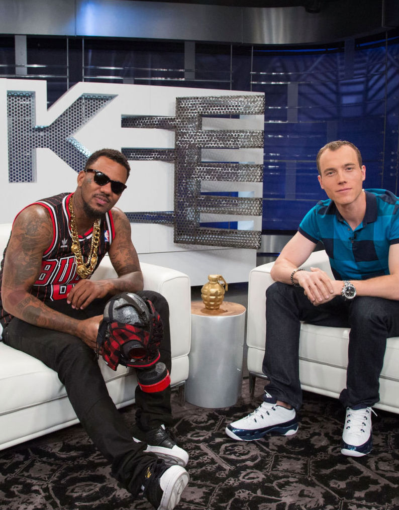 The Game wearing adidas Originals Superstar; DJ Skee wearing Air Jordan IX 9 Low Retro Pearl