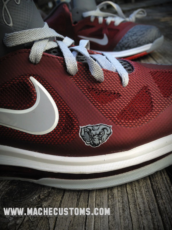 d9f553bbbe16 Nike LeBron 9 Low Roll Tide by Mache Custom Kicks (5)