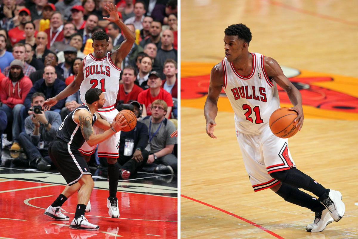 Jimmy Butler wearing adidas The Kobe (2)