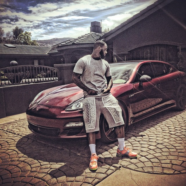 The Game wearing Nike KD VII 7 35,000 Degrees